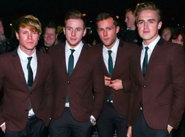 Dougie Poynter Wears A Dress As McFly Dance Gangnam Style For The McFly Show