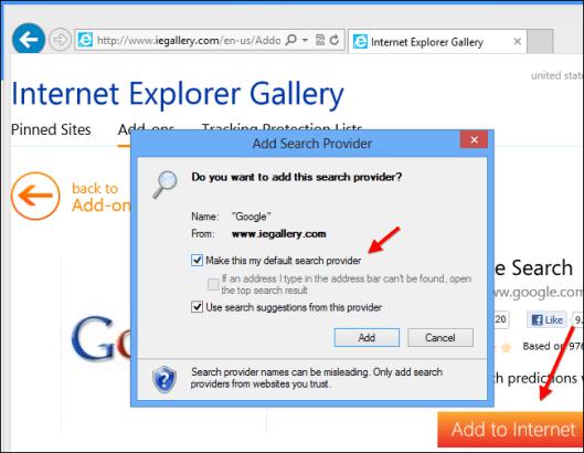 IE Add Search Provider