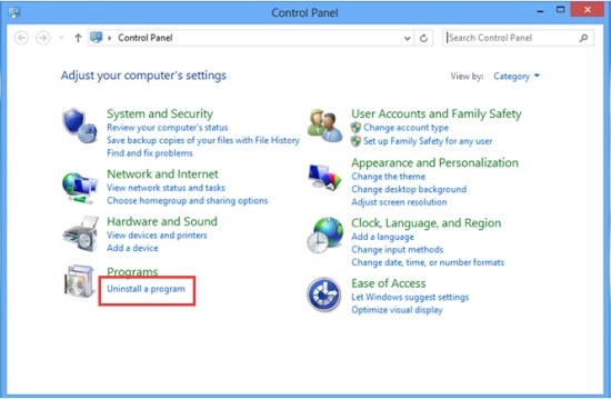 Uninstall-a-program-Windows8