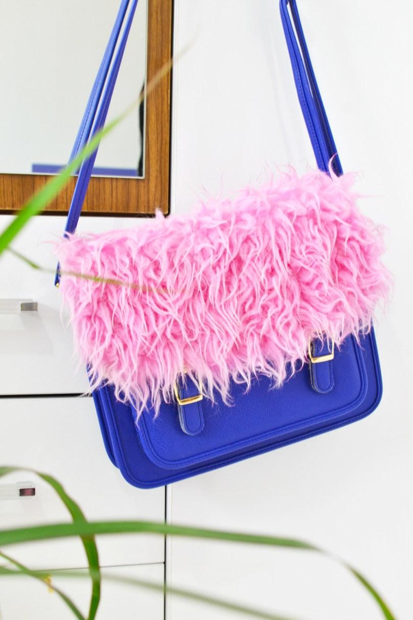 DIY Dyed Fur Crossbody bag 4