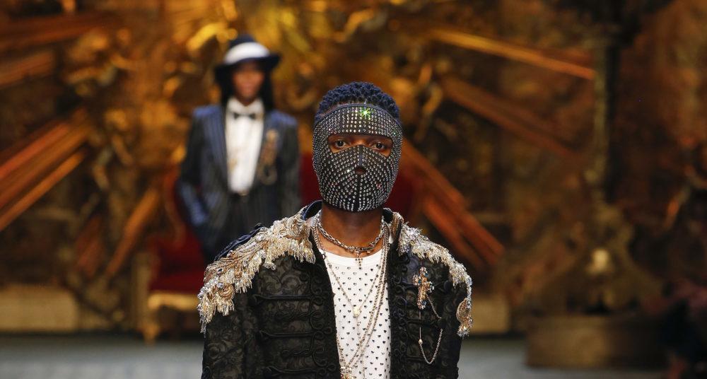 Wizkid isn't JUST Sitting in the Corner Wearing Dolce Gabbana he's on the Catwalk Yo!