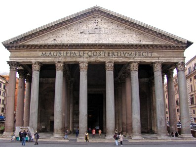 The Pantheon in Rome. A very impressive portico.
