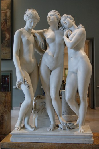 The Three Graces, salon of 1831: by Jean-Jacques Pradier, 1790-1852
