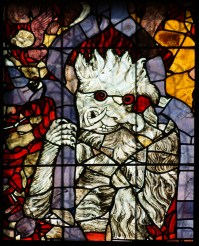 This demon from the hellfire window in Strasbourg Cathedral would have shocked and terrified the poor parishioners who feared for their mortal souls