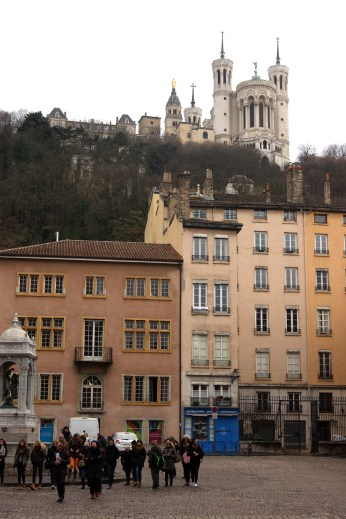 High on a hill overlooking the old city centre of Lyon, is the Basilica of Notre-Dame, a mixture of Byzantine and Romanesque styles