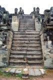 The centre of the multi-layered temple at the top of the hill can only be approached up a series of very steep stairs