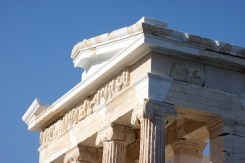 The sculpted frieze around the Temple of Athena Nike