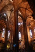 Barcelona Cathedral does not have a simple internal structure, but it still has a big, open, feel to it.