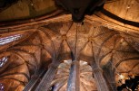 Looking up at the vaulting round the ambulatory in Barcelona Cathedral, you can see clearly how it was constructed.