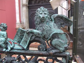 One of the many versions of the Lion of St Mark in the streets of Venice