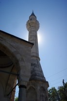 The minaret is a later addition, after this church was converted into a mosque in the 15th century AD