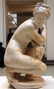 Aphrodite, surprised in the act of bathing: Roman copy of a Greek original. 2nd century AD