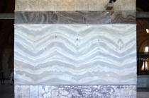 This marble pattern has been created by cutting and then reversing each alternate slice from a single block of marble.