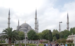 The magnificent Sultan Ahmed Mosque, better known as the Blue Mosque, with its six minarets.