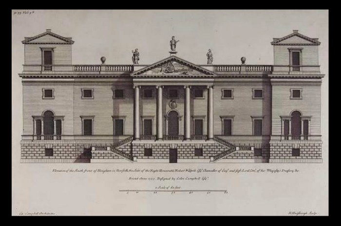 Houghton Hall original design (https://en.wikipedia.org/wiki/Houghton_Hall#/media/File:Houghton_Hall.jpg)