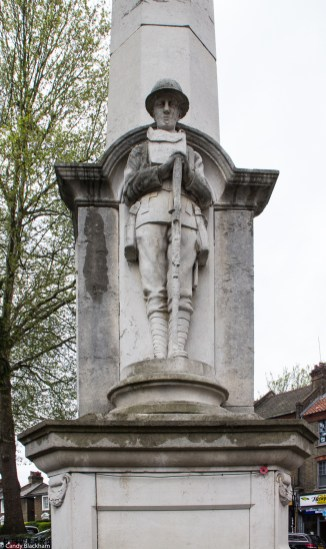 The soldier on the War Memorial