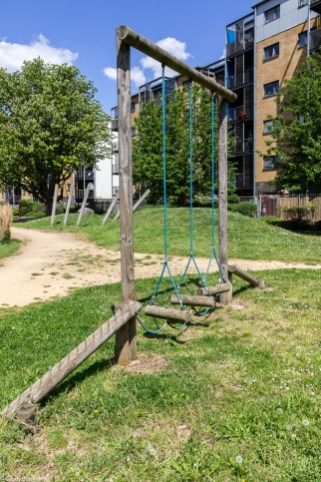 Obstacle course in Lower Pepys Parks