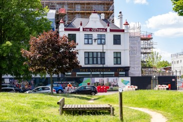 The restored pub on Grove Street, opposite Lower Pepys Parks