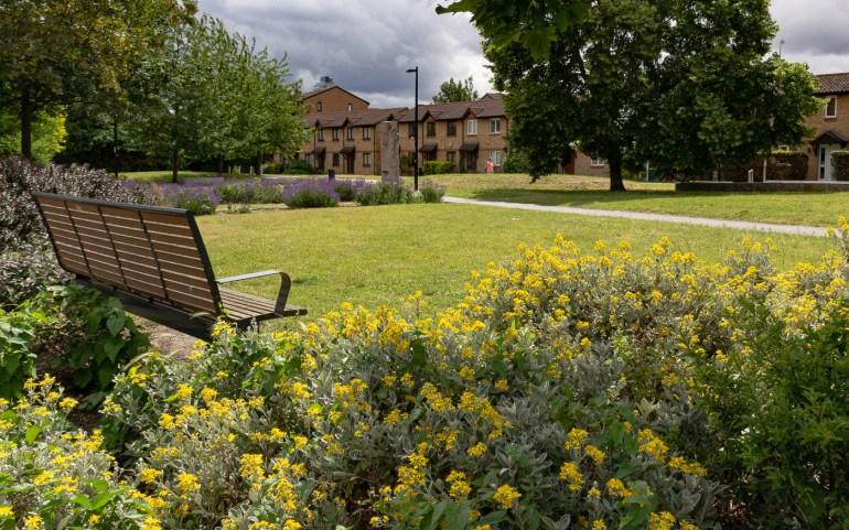 Seating in Margaret McMillan Park