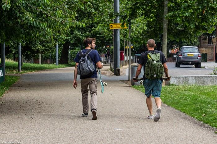 Skateboarders in Fordham Park