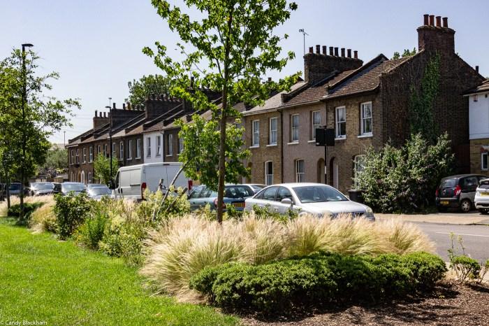 Victorian housing alongside Charlottenburg Park