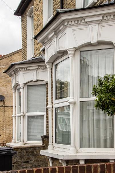 Distinctive window details in Camplin Street, also seen in other streets