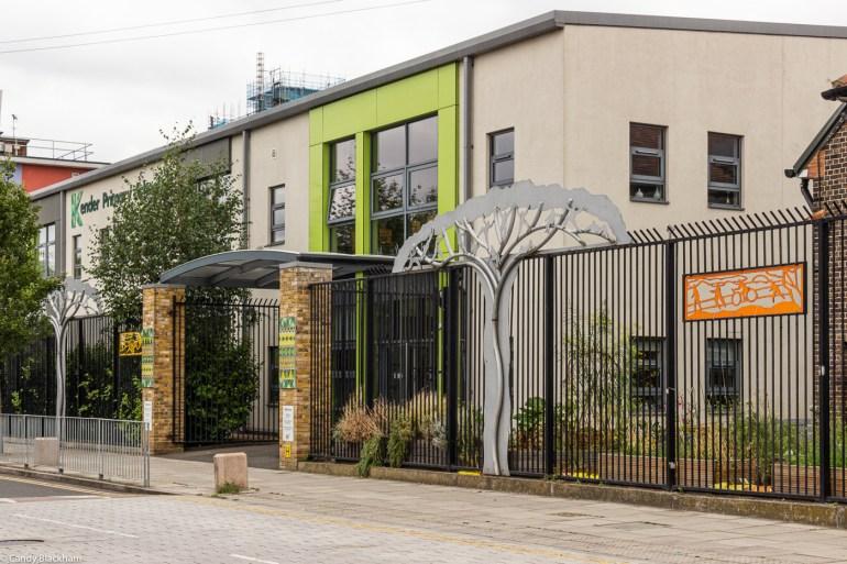 Kender Primary School opposite Hatcham Gardens