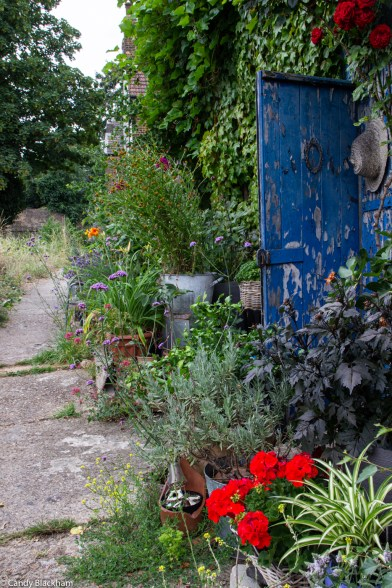 The walkway below the Railway Meadow