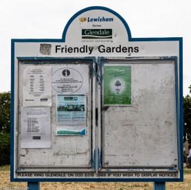 Sign in Friendly Gardens