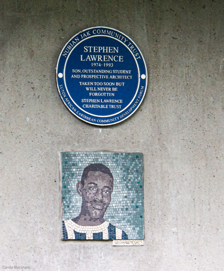 Plaque to Stephen Lawrence