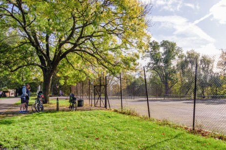 The tennis courts