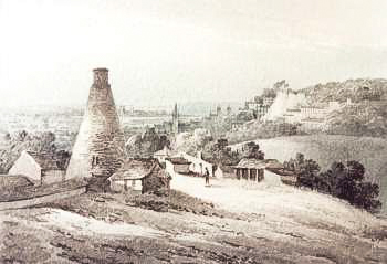 Loampit Hill Brickworks, c.1820, looking towards Greenwich (ideal-homes.org.uk-lewisham)