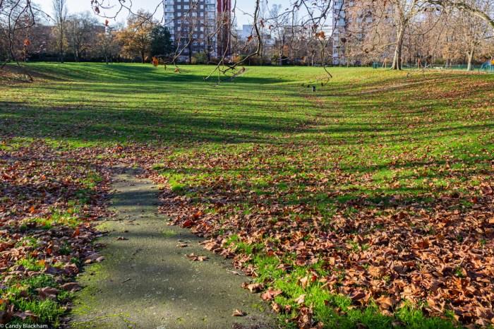 Sunken area in Lewisham Park in South East London