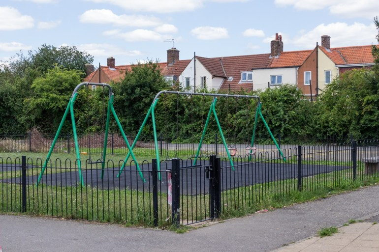 Children's play area in Downham Playing Fields