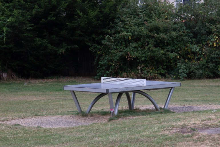 Table tennis table in Blythe Hill Fields in SE London