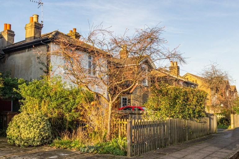 Sydenham Cottages off Marvels Lane and opposite Sydenham Cottages Nature Reserve in Grove Park