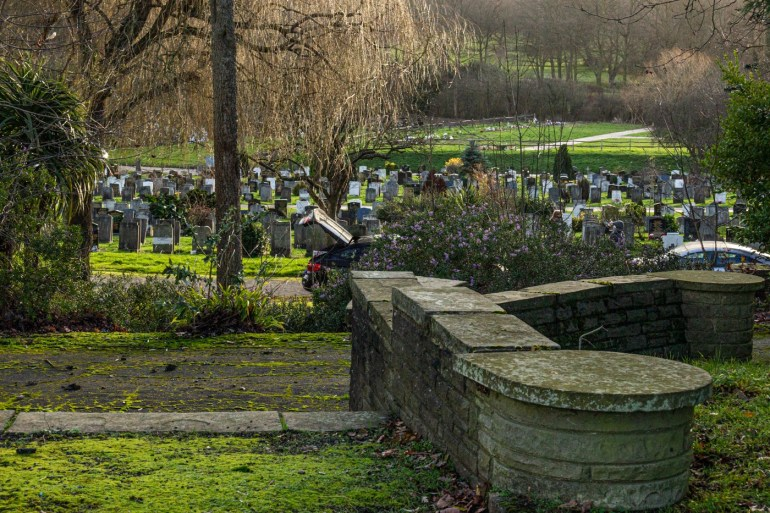 The new, extended cemetery in Grove Park