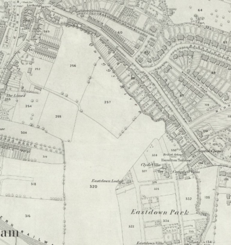 Open farmland, OS Map, NLS, published 1867: https://maps.nls.uk/view/103313144