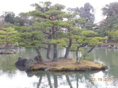 Mini island at Kinkakuji Temple, Kyoto