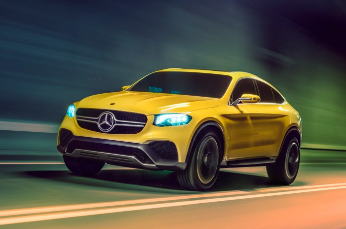 mercedes-benz concept glc coupe first look - motor trend