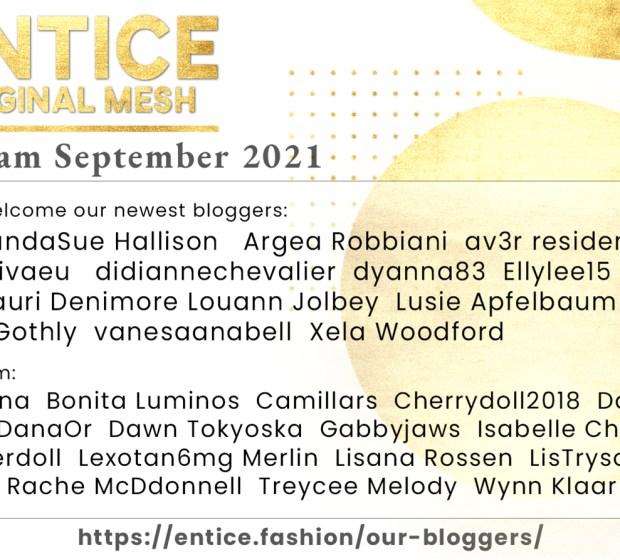 Entice – Blogger Team September 2021