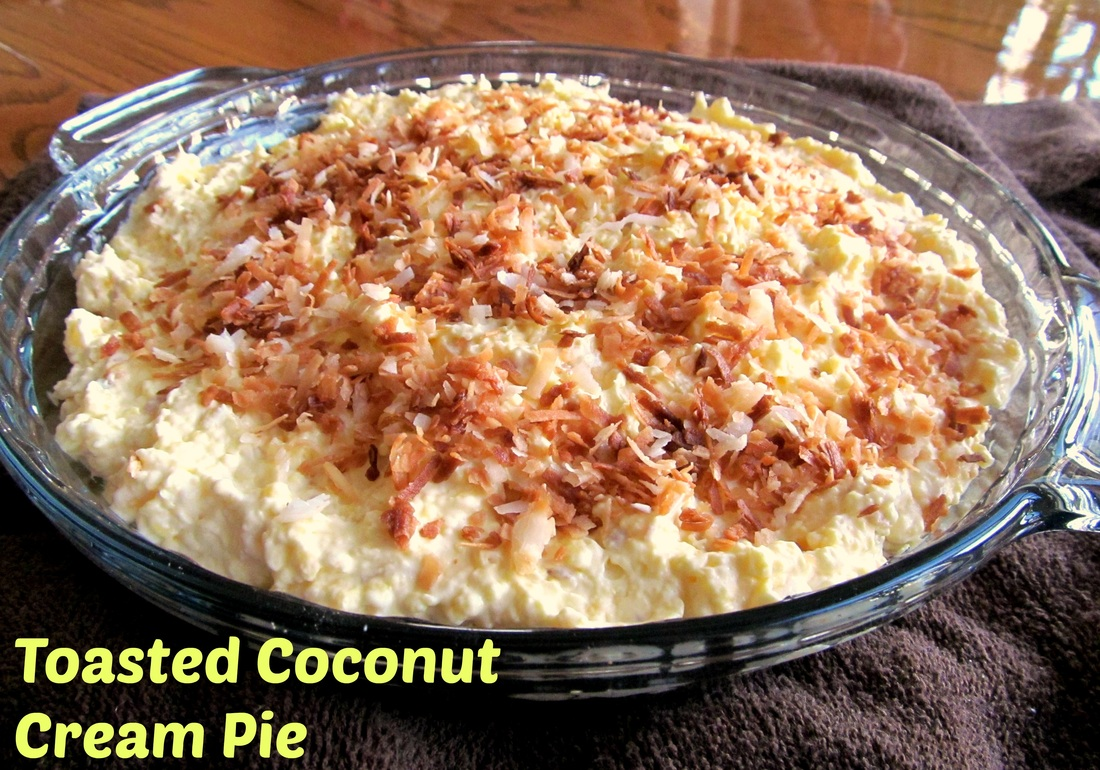 Toasted Coconut Banana Cream Pie; Enticing Healthy Eating