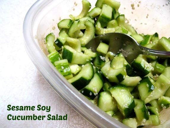 Sesame Soy Cucumber Salad
