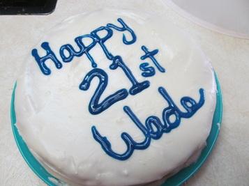 21st birthday cake Wade