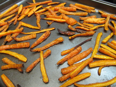 Carrot fries; Enticing Healthy Eating