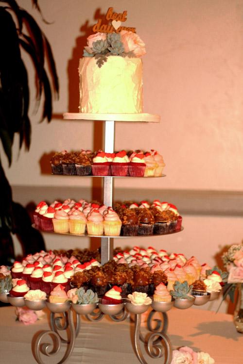 Flower Bed Cupcake Tower Wedding Amp Party Rentals San