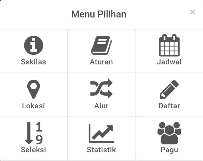 menu laman pendaftaran ppdb sma smk jakarta