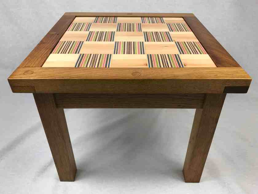 recycled skateboard table