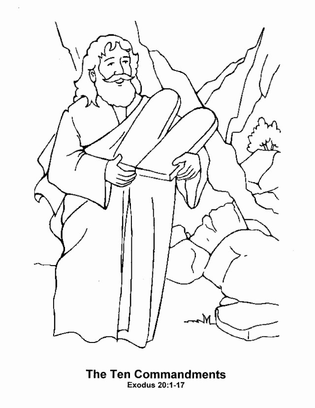 10 Commandments Coloring Pages 10 Commandments Coloring Pages At Getdrawings Free For