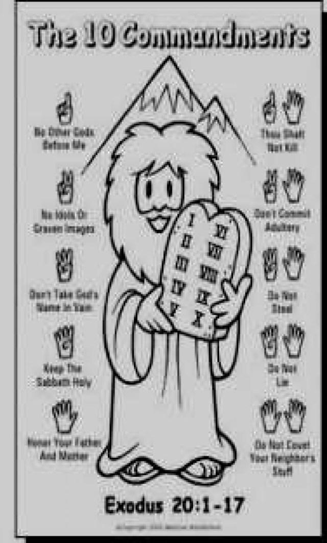 10 Commandments Coloring Pages 10 Commandments Coloring Pages Kanta